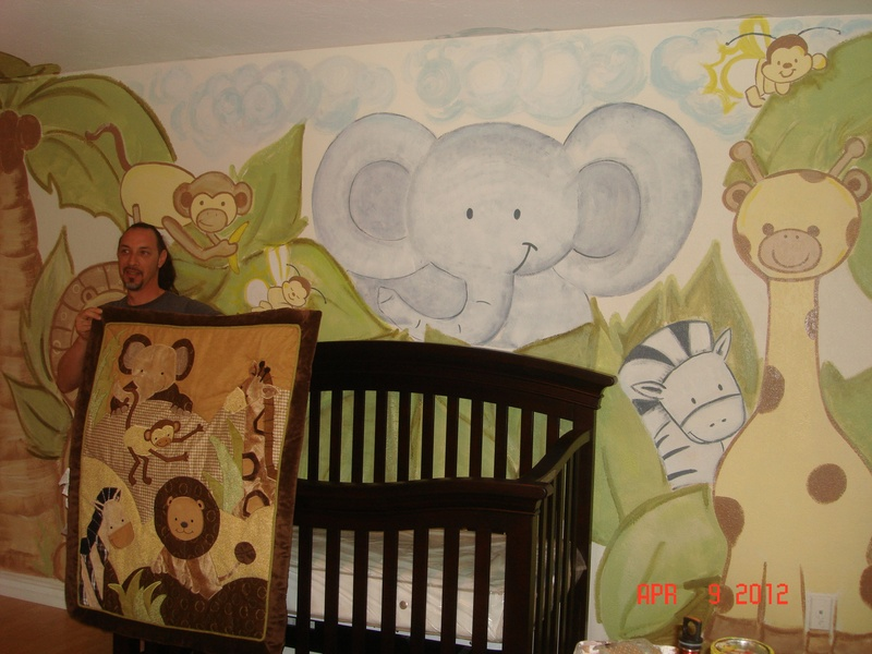 Baby jungle theme wall decor 2017 2018 best cars reviews for Baby jungle mural