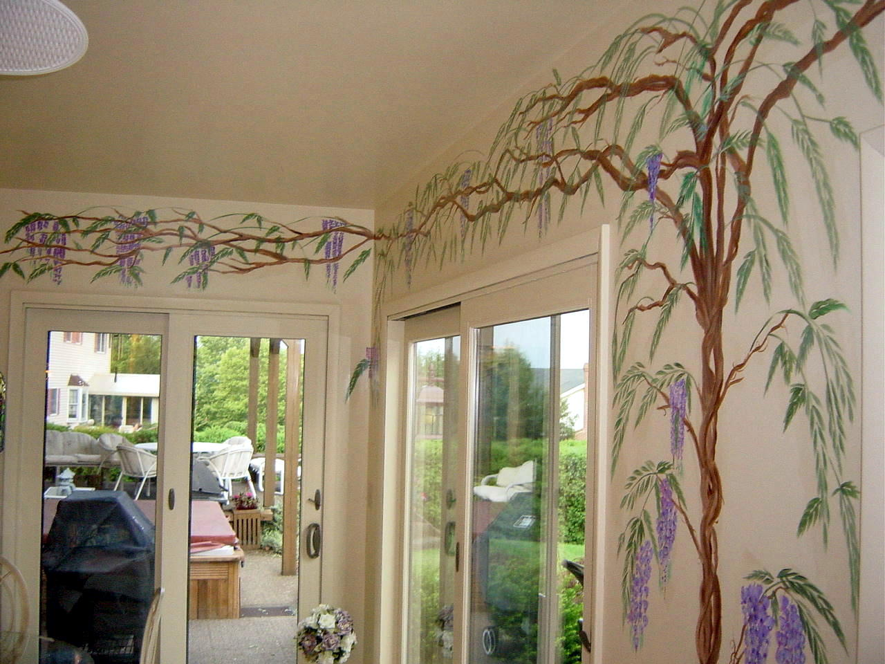 Interior wisteria tree in Pennsylvania
