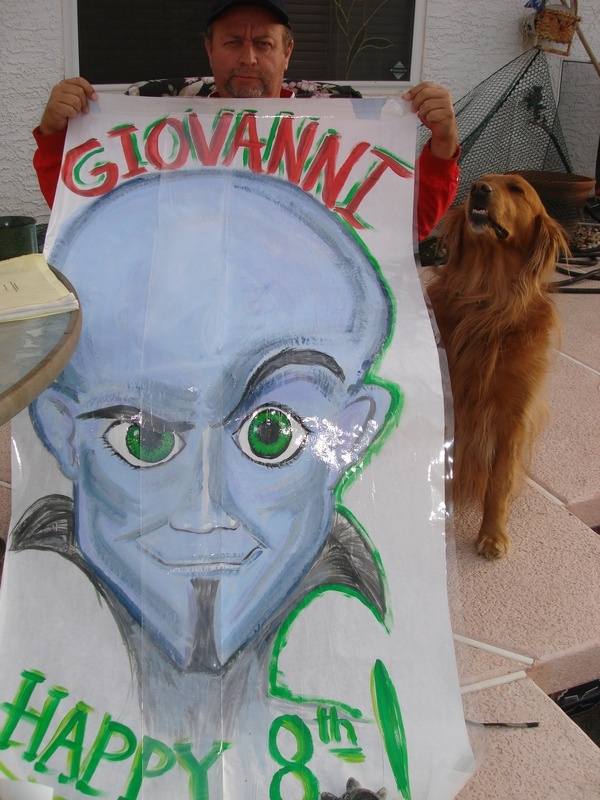 Megamind Birthday Poster completed
