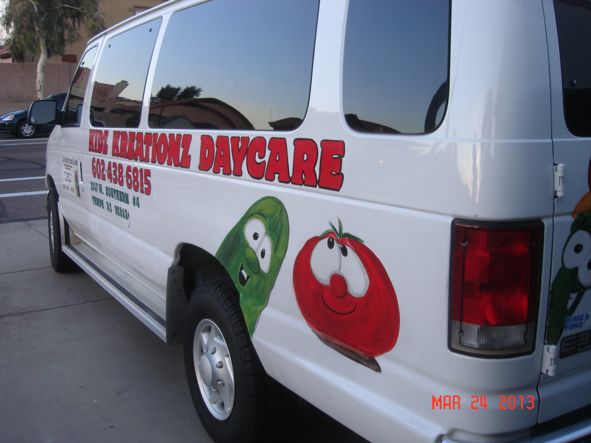 Kidz Kreationz Daycare van remodel